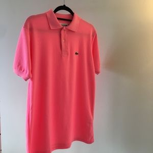 Lacoste Men's Polo Shirt in Hot Pink Size 6 Large